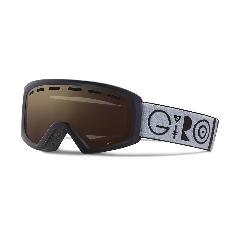 Горнолыжная маска Giro Rev чёрная Geo, Amber Rose 40% (GT)