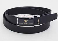Мужской кожаный ремень-автомат Versace