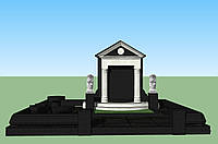 Мемориальный комплекс из гранита П - ЭМК 18