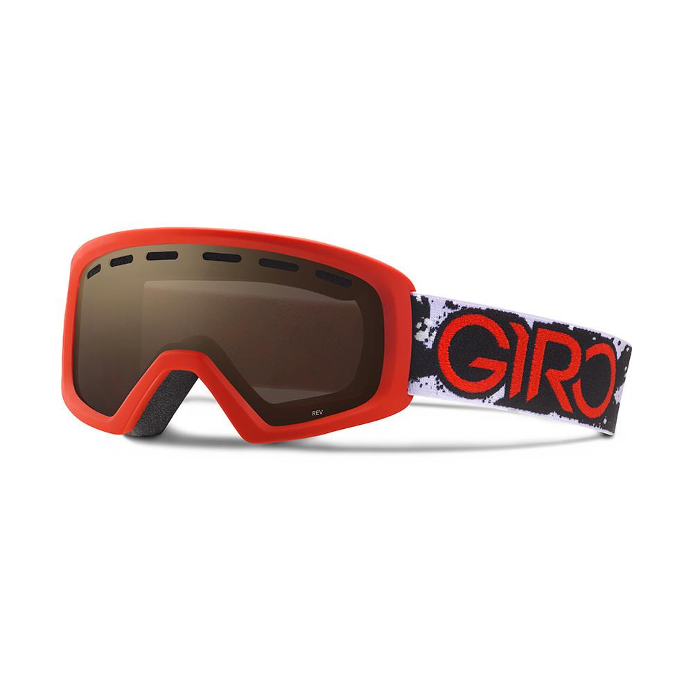 Горнолыжная маска Giro Rev красная/чёрная Camo, Amber Rose 40% (GT)