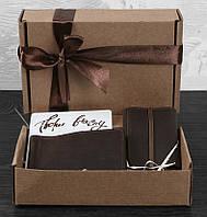 Подарочный набор аксессуаров Лас-Вегас для него BlankNote BN-set-access-6 цвет орех
