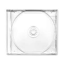 Бокс для 1-CD диска Jewel Сlear case, прозрачный трей (ДЕЛЮКС)