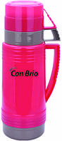 Вакуумный термос розовый со стеклянной колбой 600 мл Con Brio CB - 351