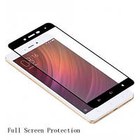 Закаленное защитное 3D стекло (на весь экран) для Xiaomi Redmi 4 / Redmi 4 Pro / Redmi 4 Prime (Черное)