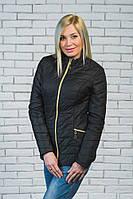 Женская короткая куртка демисезон черная, фото 1