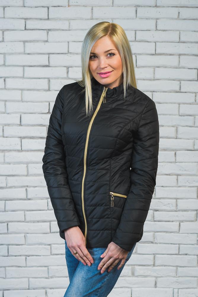 Женская короткая куртка демисезон черная