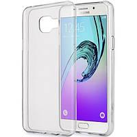 Силиконовый чехол 0,33 мм для Samsung Galaxy A3 A320 (2017) серый