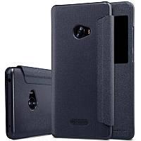 Кожаный чехол-книжка Nillkin Sparkle для Xiaomi Mi Note 2 черный