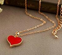 """Модная подвеска украшение """"Сердце"""", красный цвет"""