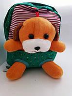 Детский рюкзак ZOO 3,пёс зеленый