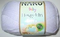 Пряжа Nako Baby Hosgeldin софт, нежно сиреневая