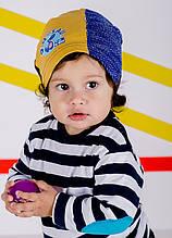 Детская шапка АДАМ для мальчиков оптом размер 44-46-48