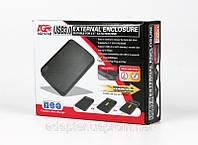 "Внешний карман Agestar 3UB2A12; 2.5"" SATA HDD/SSD; USB3.0; черный"