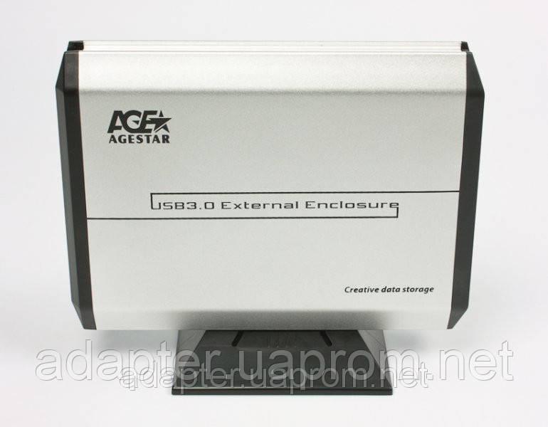 """Внешний карман Agestar 3UB3A5; 3.5"""" SATA HDD; USB3.0; Алюминиевый - Интернет-магазин """"Адаптер"""" в Мариуполе"""