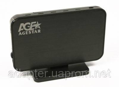 "Внешний карман AgeStar 3UB3A8 (Black); 3.5"" SATA HDD; USB3.0; Backup - Интернет-магазин ""Адаптер"" в Мариуполе"