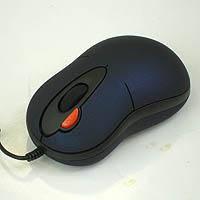 Мышь A4-X5-6AK-1 2xClick USB+PS/2 mini mouse/Синяя с черными вставками