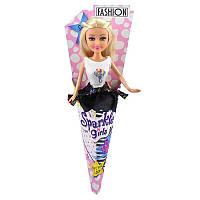 Кукла-модница Эмбер в платье с аппликацией (25 см)