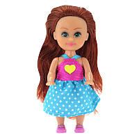 Кукла-модница Моника в платье с аппликацией (10 см)
