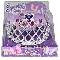 Набор из диадемы и сережек для девочки. Сердце