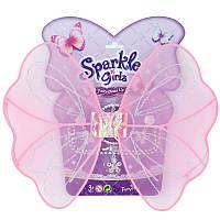 Набор аксессуаров для девочки (крылышки феи, браслет, кулон). Розовые крылышки