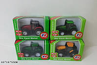 Трактор металл,4 цвета, 515-111114