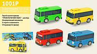 Автобус инерционный, pull back, 4 вида, 1001P