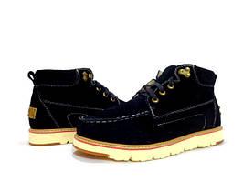 Мужские ботинки на меху черные UGG David Beckham Boots Black