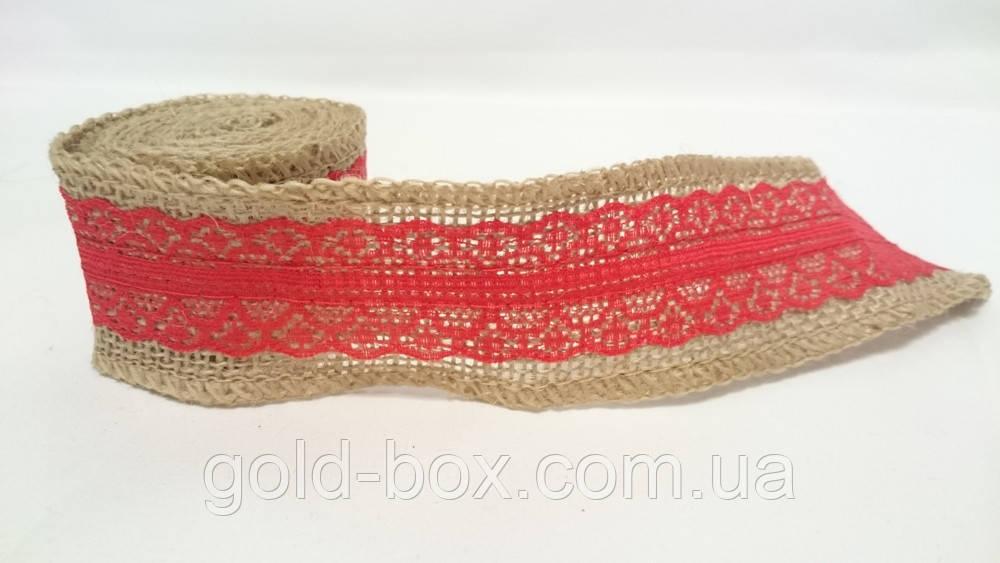 Лента декоративная красная на метраж - Gold box в Одессе