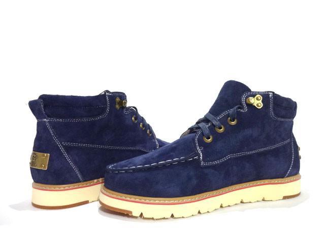Ботинки мужские зима-весна синие UGG David Beckham Boots Blue