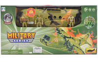 """Игрушечный набор""""Военная техника"""" на батарейках, свет, звук, солдаты, 1828-76A"""