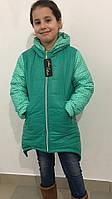 Теплая курточка асимметричной длины