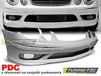 Передний бампер Mercedes W211 2006 - 2009 AMG-style