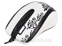 Мышь A4-GLBW-73EN USB, GLaser wheel 2x,Notebook mouse, работает на люб