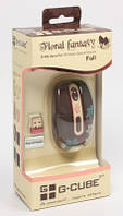 Миша G-Cube G7F-10F (Fall), Brown  USB Wireless Notebook Mouse