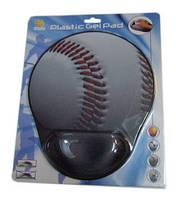 Коврик для мыши iTOY гелевый ERGO opti-laser бейсбольный мяч 225х275х2