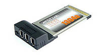 Контроллер STLab C-120; IEEE-1394 3 канала PCMCIA Type II 32Bit 33MHz