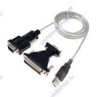 Переходник Viewcon VEN24; USB 2.0 to COM; FT232RL; 9/25 pin