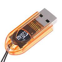 Картридер DL CR-01; T-Flash; SDHC; USB2.0; внешний