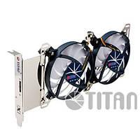 Кулер Titan TTC-SC07TZ для VGA с регулятором скорости; 2Fan; 1800fps;