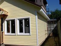 Отделка деревянного модульного, щитового дома