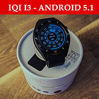 Смарт-часы IQI i3 - Android 5.1 (4GB) AMOLED, GPS, 3G, Sim, Черные
