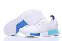 Кроссовки женские Adidas NMD XR1 white-blue, фото 1