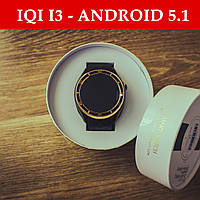Смарт-часы IQI i3 - Android 5.1 (4GB) AMOLED, GPS, 3G, Sim, Золотые