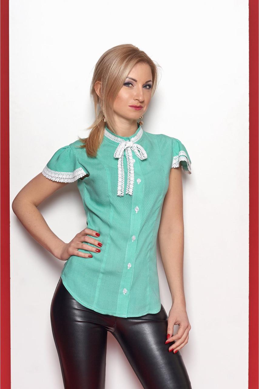 2b8cac6ea6e Женская рубашка из лёгкого штапеля мятного цвета  продажа