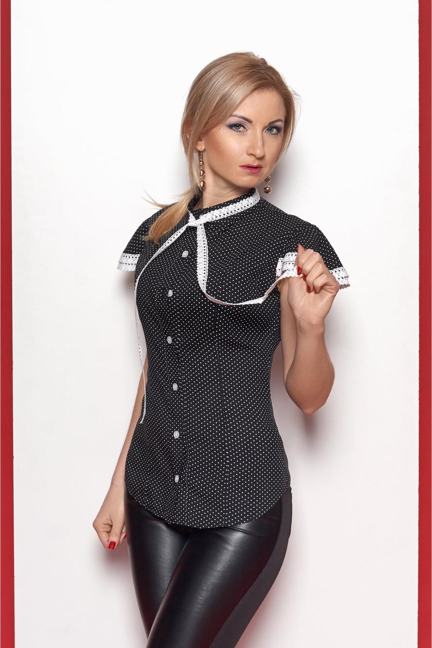 d40463646c0 Женская рубашка из лёгкого штапеля чёрного цвета  продажа