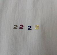 Цифра 2 размер 6 мм Цифры разного цвета  арабские