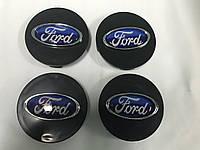 Ford Focus III 2011+ и 2015+ гг. Колпачки в титановые диски 55 мм V3 (4 шт)