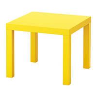 """IKEA """"ЛАКК"""" Придиванный столик, желтый, фото 1"""