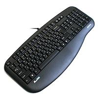 Клавиатура A4-KLS-30UP-B-R X-slim PS/2  X-slim K/b,черная.