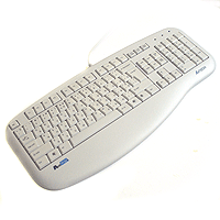 Клавиатура A4-KLS-30UP-R X-slim PS/2  X-slim K/b,белая